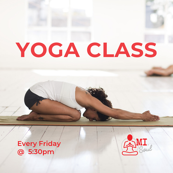 Yoga classes are ON every Friday @ MI Space Gold Coast